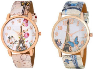 Multicoloured Stylish Watches Combo For Women