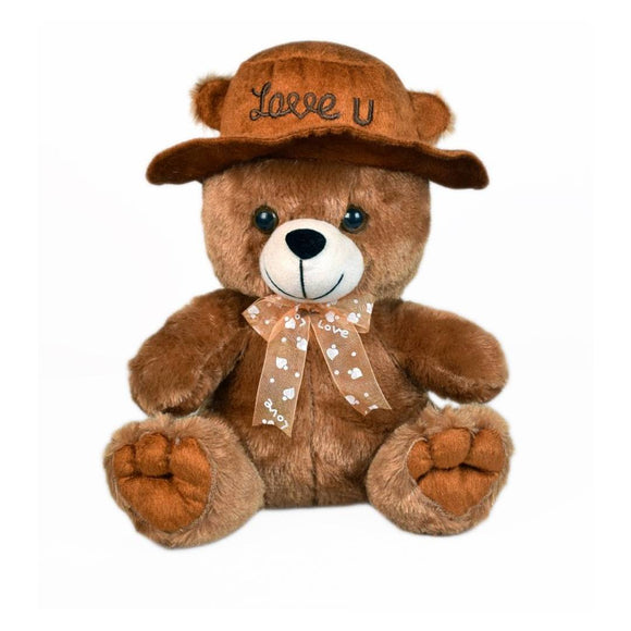 Cap Teddy Soft Toy 9 Inches - Brown