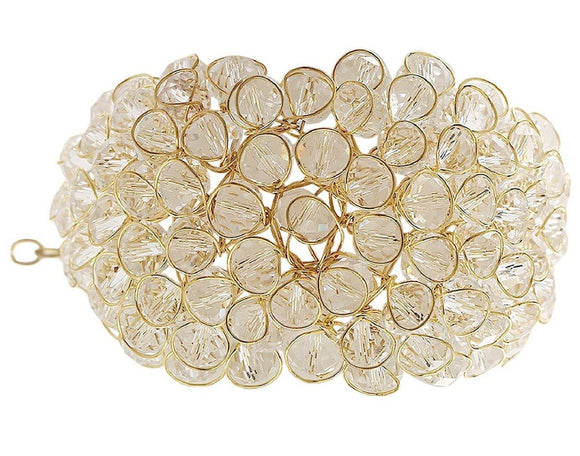 Gold Plated White Crystal Bracelet
