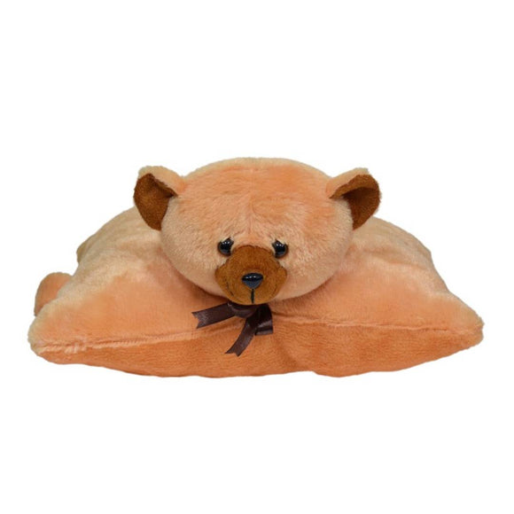 Folding Pillow Cat 11 Inches -Brown