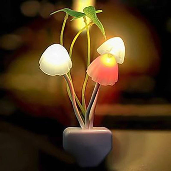 Night Light Mushroom Lamp Energy Saving Color Changing LED Sensor Night Lamp Light Green Plants On The Wall, Romantic Colorful Home Decor, Baby Room, Bedroom