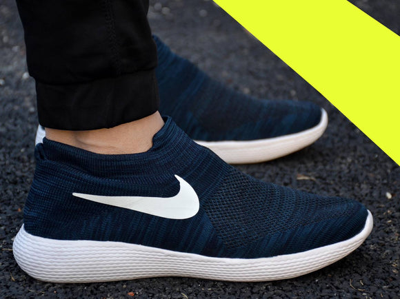Ultra Lite Men's Blue Flyknit Sports Sneaker