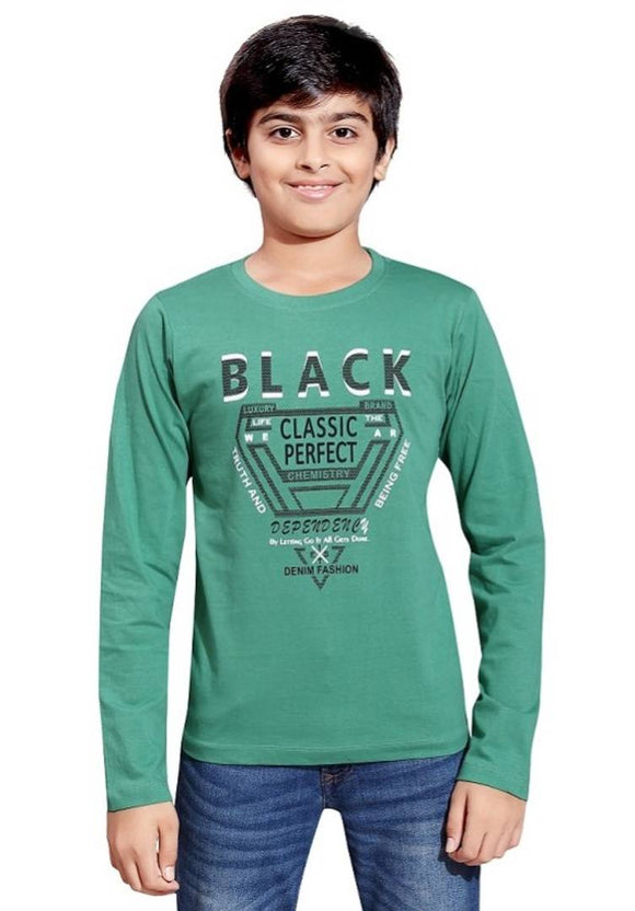 Boys Cotton Printed Long Sleeve T-Shirt