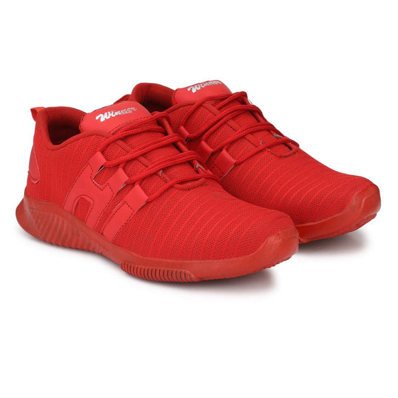 Popular All Red Mesh College Daily Wear Casual Running Sports Shoes