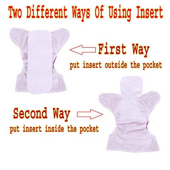 Adjustable Cotton Diaper Nappies For Kids |Age 0 to 2 Years|Pack of 2 (Assorted Colour)
