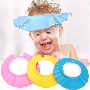 Adjustable Baby Bath Shower Cap with Soft Material for Protecting Eyes and Ears (Multicolour)