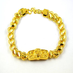 Trendy Gold Plated Bracelet For Men