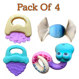 Colorful Cute Attractive BPA Free Activity Teethers & Rattles for Infants/Babies/Children/Kids/Toddlers (Set of 5)