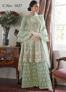 Women's Net Embroidered Dress Material with Dupatta