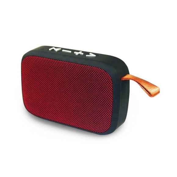 MVS Charge G2 Portable Wireless Speaker with micro SD Card and memory card slot (Red)