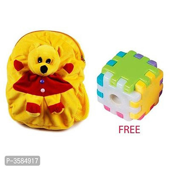 Cute Kids Plush Backpack Cartoon Toy 11L Children's Gifts Boy/Girl,FREE New Block Sharpener Sharpeners (Set Of 2, Multi Color)