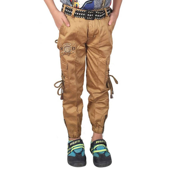 Qtsy Casual Cargo/Joggers for Kids Stretchable Cargo Pant for Boys