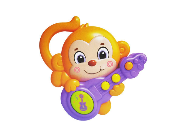 Emob Monkey with Guitar Musical Learning toy with Light and Sound Effects for Kids