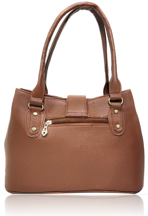 Stylish PU Leather Handbag ( Combo Pack of 2 (Tan & Tan )