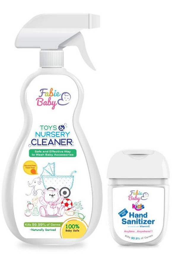 Fabie Baby Toy Nursery Cleaner 500Ml With Baby Hand Sanitizer 30Ml (Pack Of 2)