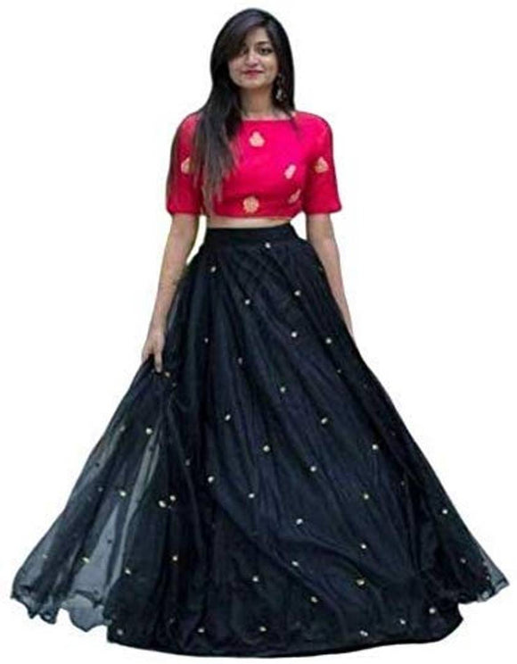 Latest Attractive Net Semi Stitched Lehenga Choli