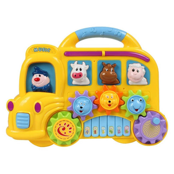 Planet of Toys Musical Piano for Babies, Kids | Musical Toys for Baby, Toddler, Boy, Girls – Rabbit Piano (Yellow)