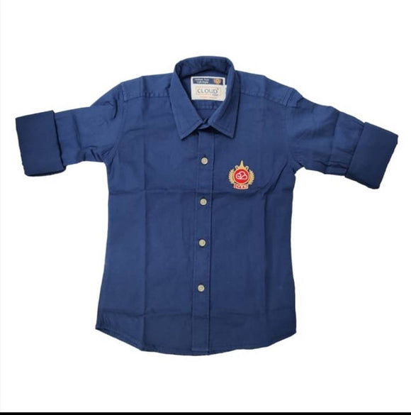 Adorable Cotton Solid Shirt For Boys