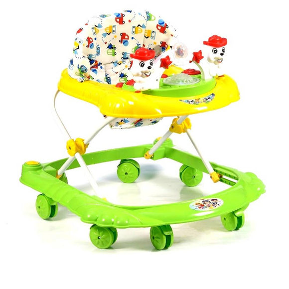 Musical Baby Walker 3 In 1 Height Adjustable Musical Toys Ride On Push Walker