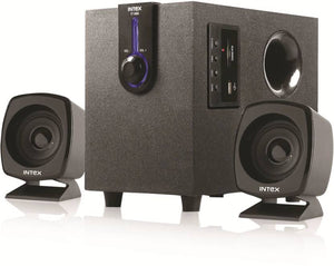 Intex IT-1666 OS Laptop/Desktop Speaker  (Black, 2.1 Channel) - 10solo.com