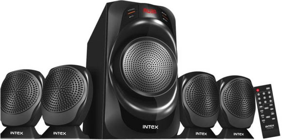 Intex IT 2700 FMU Laptop/Desktop Speaker  (Black, 4.1 Channel) - 10solo.com