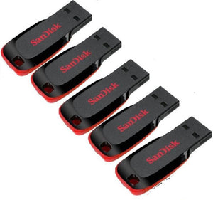 SanDisk 8 Gb Pen Drive Pack Of 5 8 GB Pen Drive  (Multicolor) - 10solo.com