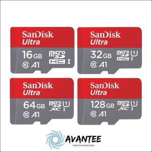 100% Original Sandisk Micro SD Card 16GB 32GB 64GB 128GB - Mobile Phones