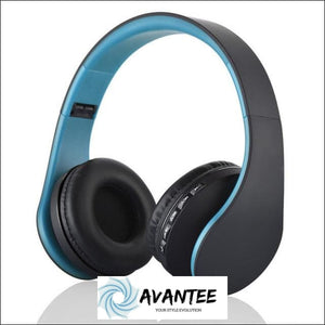Andoer 4.1 + EDR Digital Stereo Bluetooth Headphones - Blue - Headphones