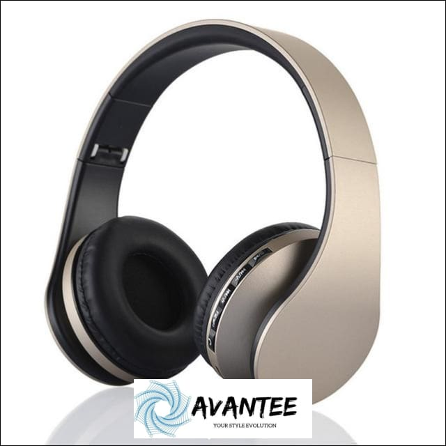 Andoer 4.1 + EDR Digital Stereo Bluetooth Headphones - Gold - Headphones