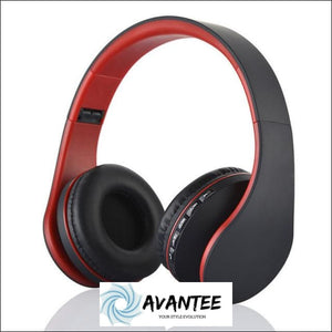 Andoer 4.1 + EDR Digital Stereo Bluetooth Headphones - Red - Headphones
