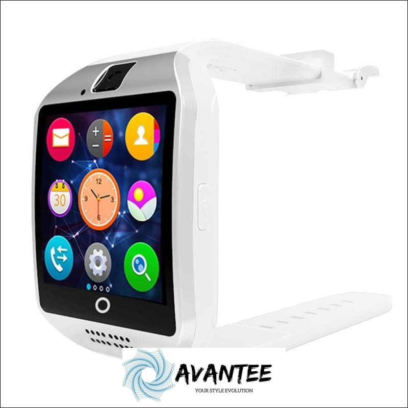Anti-Lost Bluetooth Smart Watch With Camera - White - Smartwatch