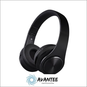 B3 Foldable Stereo Bluetooth Headphones with TF Slot - Black - Headphones