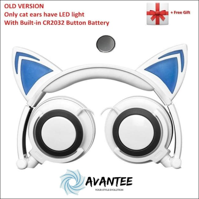 Cat Ear Led Headphones - A White / China - Headphones