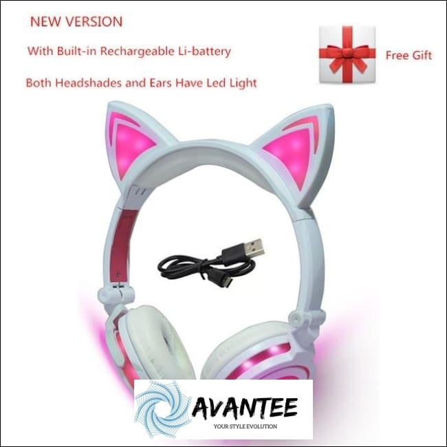 Cat Ear Led Headphones - B Pink / China - Headphones