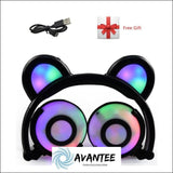 Cat Ear Led Headphones - C Black / China - Headphones