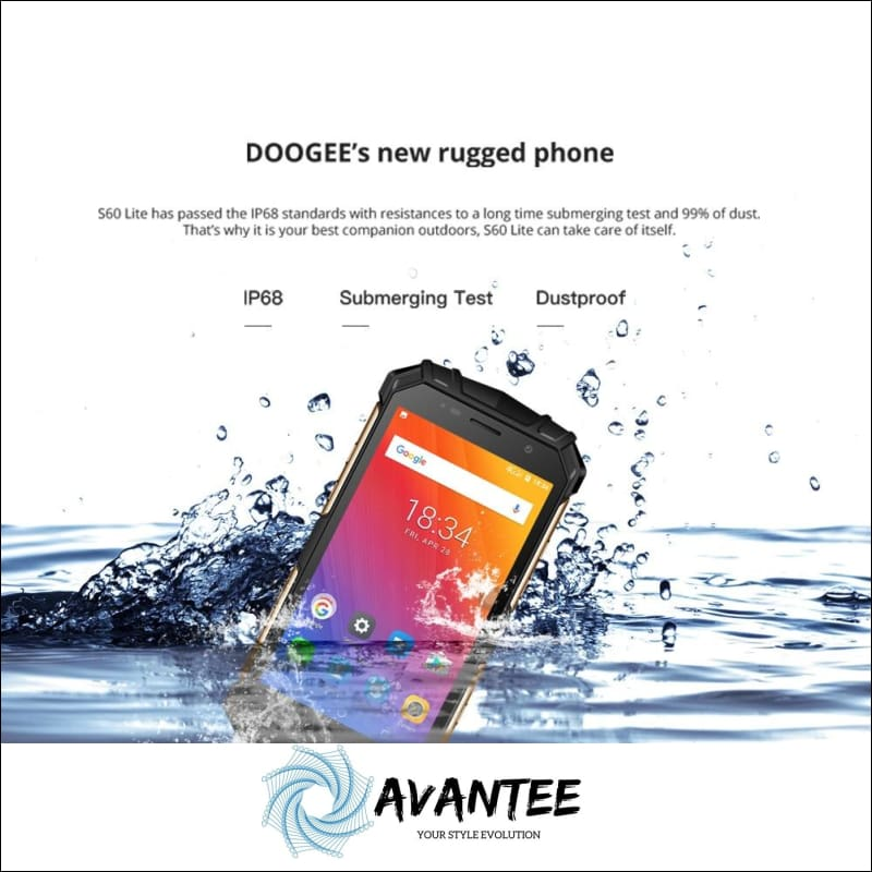 Doogee 2018 S60 Lite Ip68 Wireless Charge Smartphone - Mobile Phones