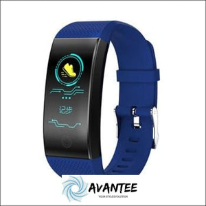 FROMPRO 18 Color Screen Smart Bracelet Wristbands - Blue - Health & Fitness