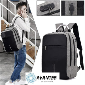 Hot Sale - Usb Charge Computer Anti-Theft Backpack - Business & Office