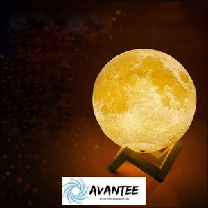 Led Night Light 3D Printing Moon Lamp Lunar Light Touch Control Usb Charging Light - Decorative Gadget