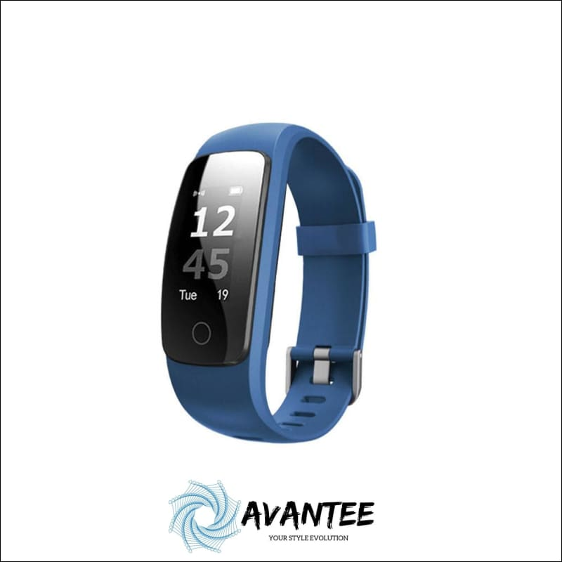 Waterproof Fitness Tracker Smart Watch - Blue - Health & Fitness