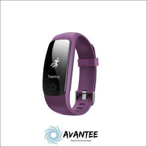 Waterproof Fitness Tracker Smart Watch - Purple - Health & Fitness