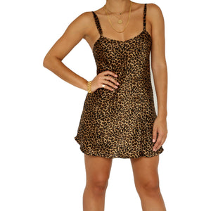 Morgan Taylor Leopard Slip Dress