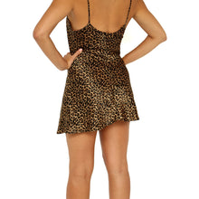 Load image into Gallery viewer, Morgan Taylor Leopard Slip Dress