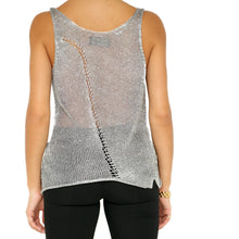 Load image into Gallery viewer, Zadig & Voltaire Silver Mesh Top