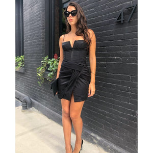 Alice + Olivia Black Corset Dress