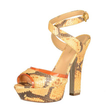Load image into Gallery viewer, Sergio Rossi Python Heels