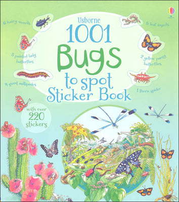 Usborne  1001 Bugs Things to Spot Sticker Book by Emma Helbrough (Paperback)