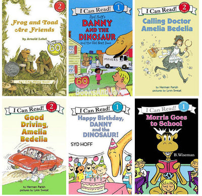 I Can Read Amelia Bedelia, Danny and the Dinosaur, Frog and Toad, Morris the Moose Set