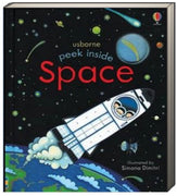 Usborne Peek Inside Space by Anna Milbourne (Board Book)