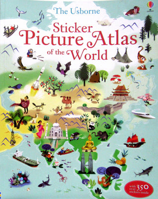 Usborne Sticker Picture Atlas of the World by Sam Lake